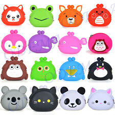 Girls Candy Cartoon Animal Shape Silicone Coin Purse Rubber Cosmetic Bag Wallet