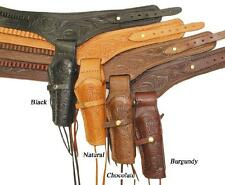 New! Leather Holster Gun Belt Right Handed .45 Caliber Available in 4 Colors