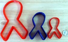 Breast Cancer Awareness Ribbon Cookie Cutter - Choice of Sizes - 3D Printed