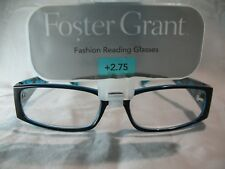 Foster Grant Pearlie Blue & Black Fashion Reading Glasses +1.25 1.75 2.25 2.75