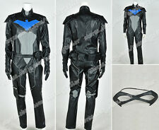 Young Justice Cosplay Nightwing Costume Jumpsuit Outfit Full Set Black Version