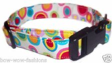 Spiffy Pooches Retro Colorful Dog Puppy Pets Collar Gear  XS SM MED LG XL
