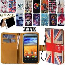 Folio Flip Leather Stand Card Wallet Magnetic Cover Case Fit Various ZTE Phones