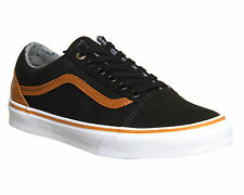 Mens Vans Old Skool BLACK BROWN ST Trainers Shoes vh7