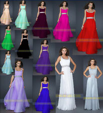New Long Prom Gown Ball Chiffon Cocktail Party Dress Formal Bridesmaid Evening