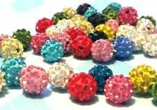 10MM DIY Clay Pave Disco Ball Spacer Beads *USA SELLER* Czech Crystal Shamballa