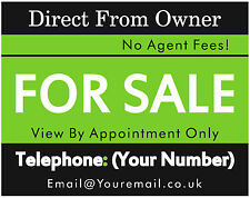 FOR SALE / TO LET Custom Personalised Full Colour Estate Sign Boards - 2 Signs