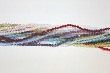 Glass Beads - 4mm-Bi-cone-16 Faceted - Five (5) Strands (About 500 Beads Total)