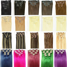 16In.-22In.Remy Clip In Hair 100% Real Human Hair Extensions,USA STOCK FASTER