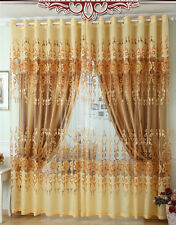 Ou johndroe curtain Drapes Valances Luxury Lined Curtain Set and Valance Window