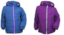 Girls Kids Puffa Jacket Padded Coat Back to School Blue Pink Age 4 5 6 7 8 9 10