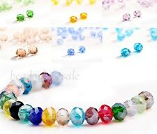 80pcs Rondelle Crystal Loose Charm Spacer Beads 4x6mm For Making Jewelry Nice