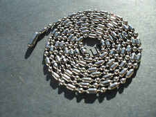 2.4mm Stylish Stainless Steel Bar & Ball Bead Dog Tag Chain Necklace FREESHIP