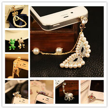 Bling Anti Dust Earphone Plug Ear Jack Cap Charm Crystal For Cellphone 3.5mm NEW