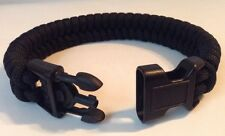 Police Black Tactical Fishtail Paracord Bracelet with Handcuff Key Buckle