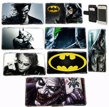 Custom Comic Batman Joker leather card phone case for Samsung S5 Mini,HTC One M8