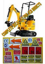 Decal Sticker set.JCB 8008CTS Micro. Mini Digger Pelle Bagger Excavator