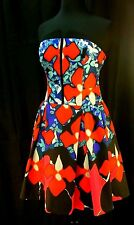 Peter Pilotto for Target Red Iris Strapless Spring Floral Dress New w/o Tags