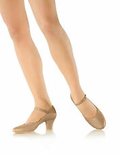 """NEW! SO DANCA 2"""" DANCE CHARACTER SHOES. LEATHER SOLE. COLOR: BLACK!! (CH52)"""