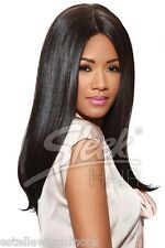 SLEEK FASHION IDOL 101 TONGABLE SYNTHETIC STRAIGHT WIG -IMAN WITH FREE WIG CAP