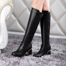 Charming Womens Knee High Boots Motorcycle Wedding Snow Shoes Martin Boots CA EF