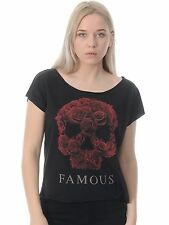 Famous Stars and Straps Black Rose Soul Womens T-Shirt