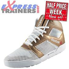 Reebok Womens Dance UrTempo Mid Workout Fitness Gym Trainers White *AUTHENTIC*