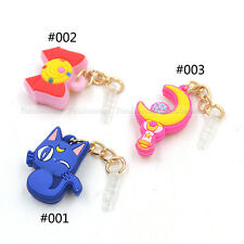 Cute Sailor Moon Anti Dust Holder Plug iPhone Samsung Galaxy Anime Free Shipping