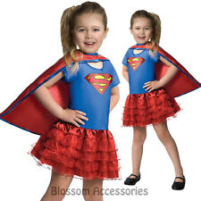 CK167 Supergirl Dress Up Tutu Superman Hero Fancy Dress Girl Toddler Costume