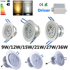 Dimmable CREE LED Ceiling Recessed Cabinet Downlight Lamp 9W 12W 15W 21W 27W 36W