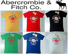 A&F Abercrombie & Fitch 2014 Red Indian Boy Girls Unisex Crew Tee T-Shirt.M L XL