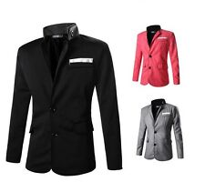 US Seller Mens Stylish Blazer Casual Or Business Button Suit Slim Fit Coat PK84