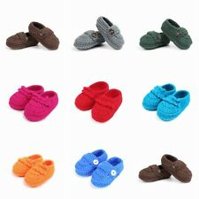 Boys Girls Crochet Knitted Baby Newborn Full Cover Shoes Soft Infant Short Boots