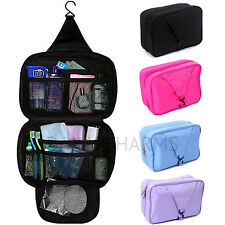 Bathroom Shower Travel Organizer Toiletry Cosmetic Make Up Wash Bag Hanging Hook