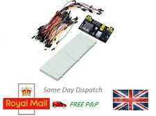 MB-102 830 Point Solderless PCB Breadboard+65pcs Jump Cable Wires+Power Supply
