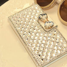 Luxury Wallet Bling Rhinestone Diamond Leather Case For iPhone 6 4 5S 5C 6 PLUS