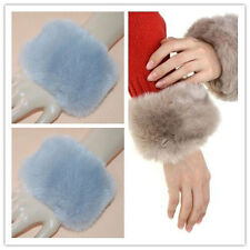Hot Women Wrist Arm Faux Fur Sleevelet Bracelet Cuff Wristband Oversleeve Gloves