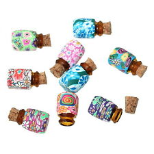 Wholesale Lots Mini Round Shaped Glass Bottles Containers Vials With Corks