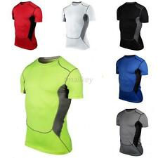 Men Compression Base Layer Top Skin Tight Short Sleeve T-Shirts Sport Collection
