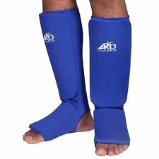 ARD CHAMPS™ Shin Instep Protectors, Guards Pads Boxing, MMA Muay Thai Blue