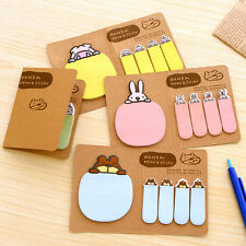 4 Colour Animal Memo Post It Notes Message Pad Label To Do List Sticky Notepad