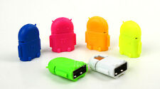 New Robot Micro USB Host OTG Adapter Cable for Samsung Galaxy S3/S4/S5 Note2/3