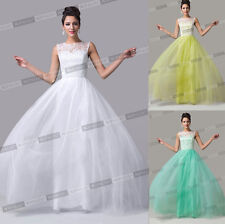 LACE Evening Bridesmaid Dress Long Formal Cocktail Party Prom Wedding Ball Gowns
