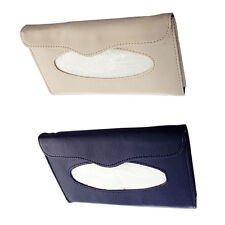 Car sun visor Tissue box Auto accessories holder Paper napkin clip- leather Box