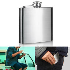 Portable Stainless Steel Hip Liquor Whiskey Alcohol Flask Cap 4 10 18 oz +Funnel