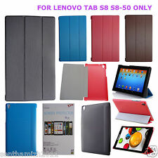 LENOVO TAB S8 S8-50 8 Inch LEATHER CASE FLIP COVER STAND   PVC BACKCASE   4COLOR