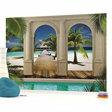 Sea Beach Sand Landscape PHOTO WALLPAPER WALL MURAL ROOM DECOR (1524P)