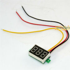 Mini DC 0-100V 3-Digital Display Voltage Voltmeter Panel LED Screen Motorcycle