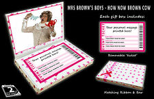 MRS BROWNS BOYS Personalised Ticket Gift Box