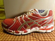 Asics Women's GEL Kayano 19 HOT RED/SILVER Running Shoes VERY RARE